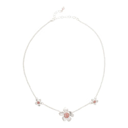 Fera ~ Bouquet of Flowers Medium Inline Necklace - Alexandra Mosher Studio Jewellery Bermuda Fine