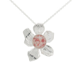 Fera ~ Medium Flower Pendant - Alexandra Mosher Studio Jewellery Bermuda Fine