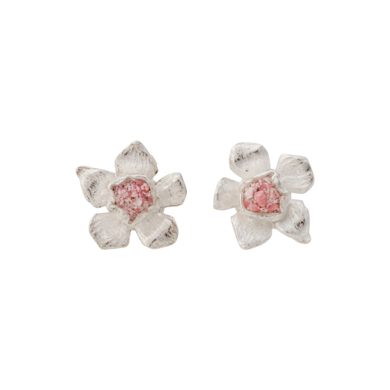 Fera ~ Tiny Flower Stud Earrings - Alexandra Mosher Studio Jewellery Bermuda Fine