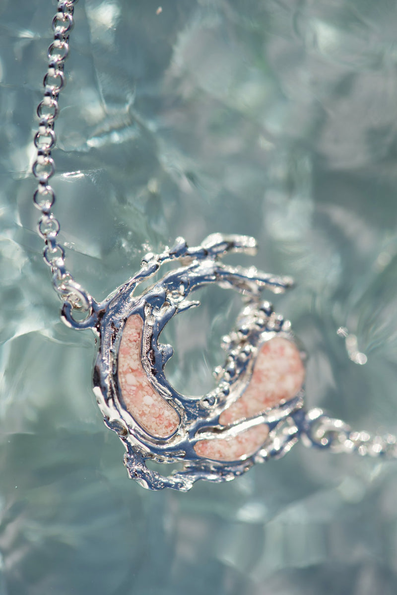 Impasto ~ Breakthrough (Small) Inline Necklace - Alexandra Mosher Studio Jewellery Bermuda Fine