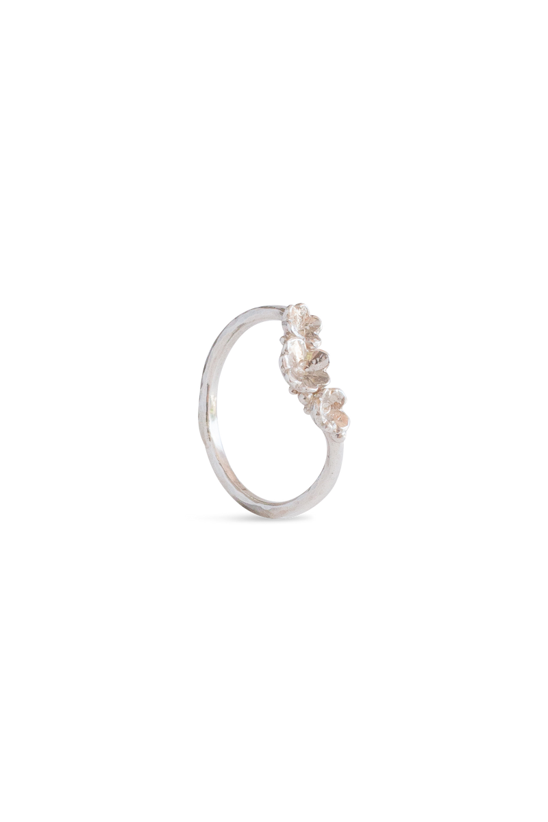 Barnacle Bands ~ Three Arc Gold Ring