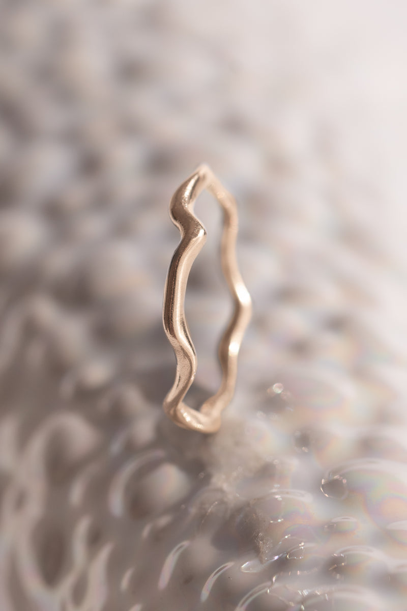 Signature Bands ~ Melt Small Gold Ring