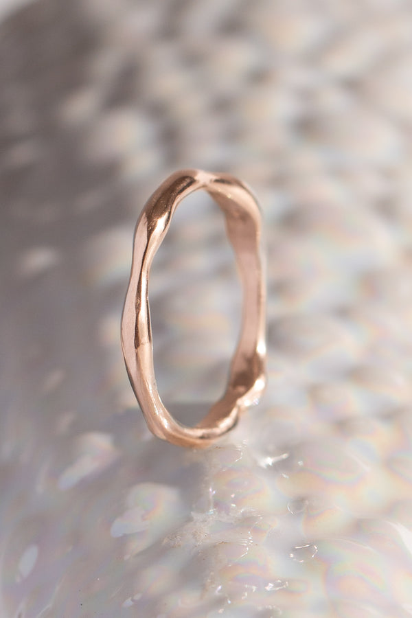 Signature Bands ~ Melt Medium Gold Ring