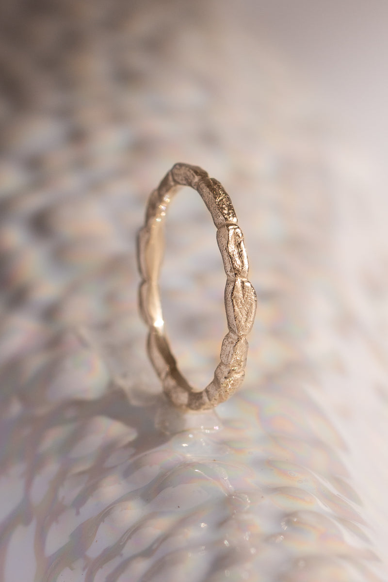 Signature Bands ~ Coral Small Gold Ring