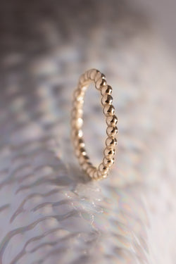 Caviar Bands ~ Straight Gold Ring