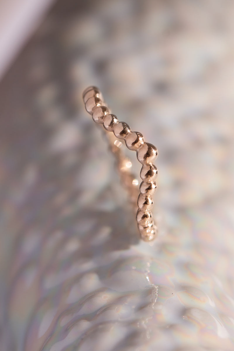 Caviar Bands ~ Arc Gold Ring