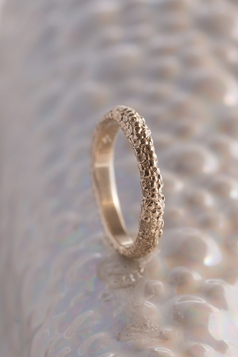 Bermuda Textures ~ Crab Gold Ring