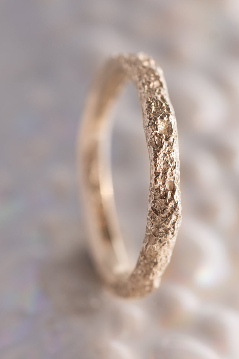 Bermuda Textures ~ Unfinished Church Gold Ring