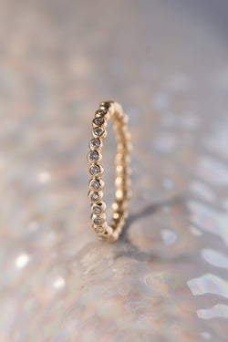 Caviar Bands ~ Eternity Gold Ring