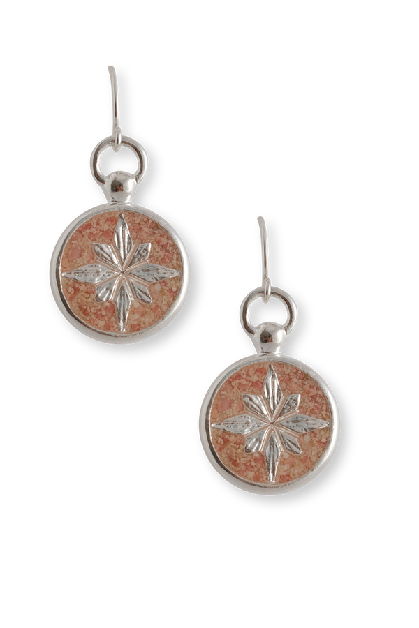 Compass Rose ~ Dangle Earrings