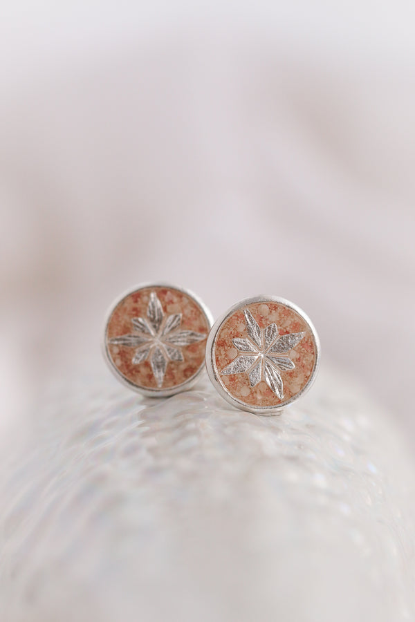 Compass Rose ~ Stud Earrings