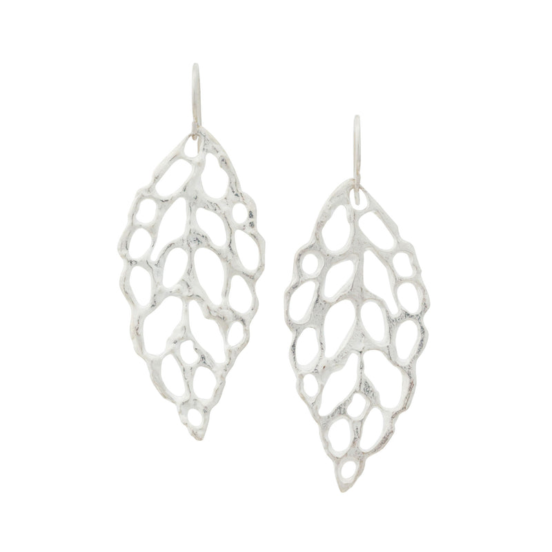 Lace ~ Large Dangle Earrings - Alexandra Mosher Studio Jewellery Bermuda Fine