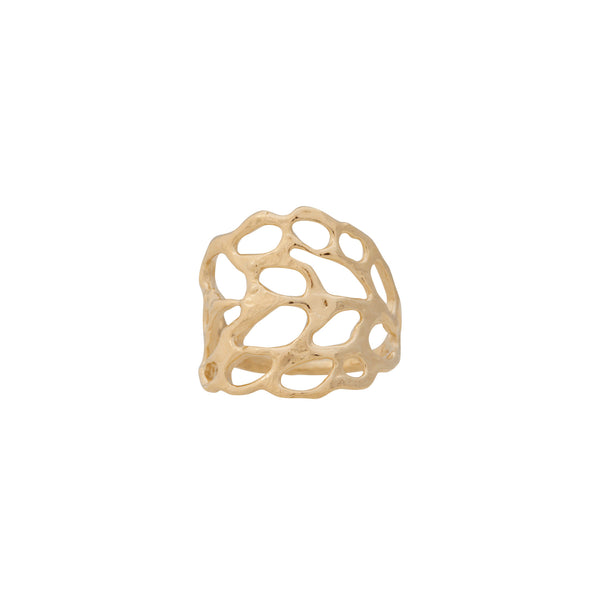 Lace ~ 14K Gold Large Ring