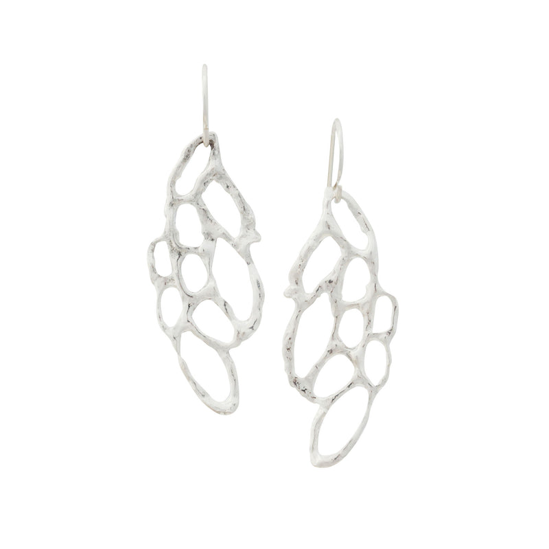 Lace ~ Small Dangle Earrings - Alexandra Mosher Studio Jewellery Bermuda Fine