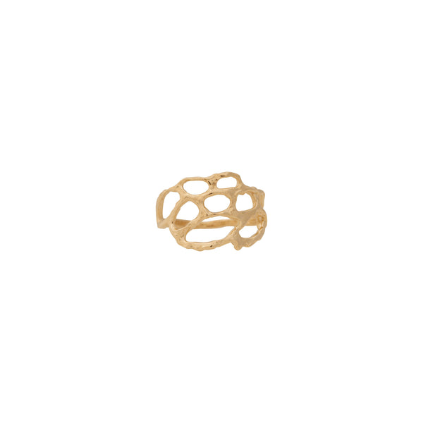 Lace ~ Small Ring in Gold - Alexandra Mosher Studio Jewellery Bermuda Fine