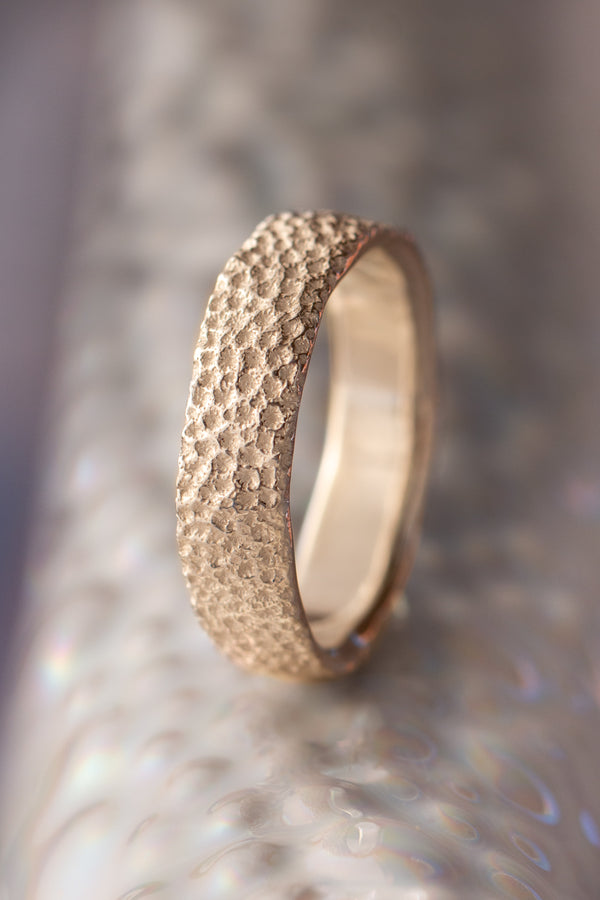 Bermuda Textures ~ Brain Coral Gold Ring