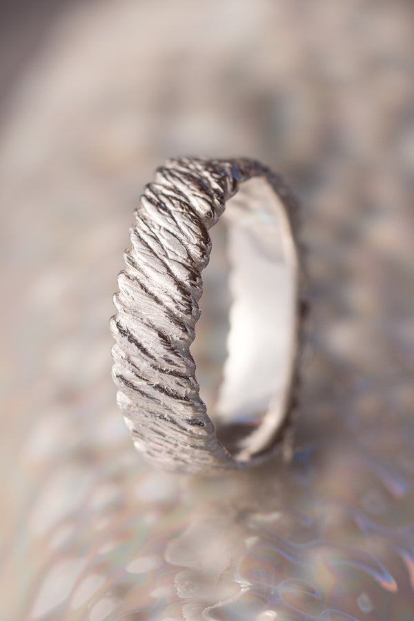 Bermuda Textures ~ Boat Rope Gold Ring