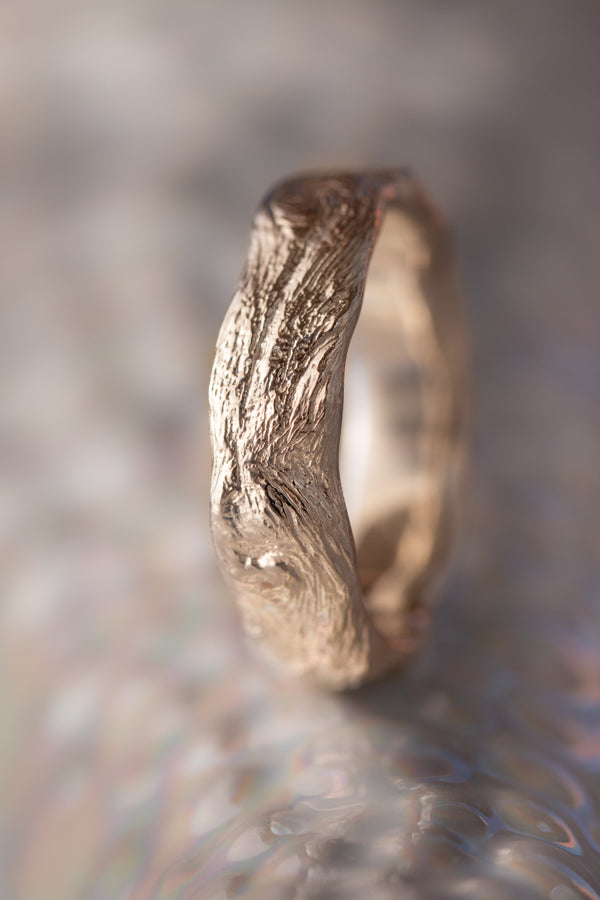 Bermuda Textures ~ Devonshire Driftwood Gold Ring
