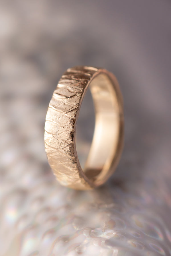 Bermuda Textures ~ Fish Scale Gold Ring