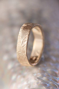 Bermuda Textures ~ Longtail Feather Gold Ring