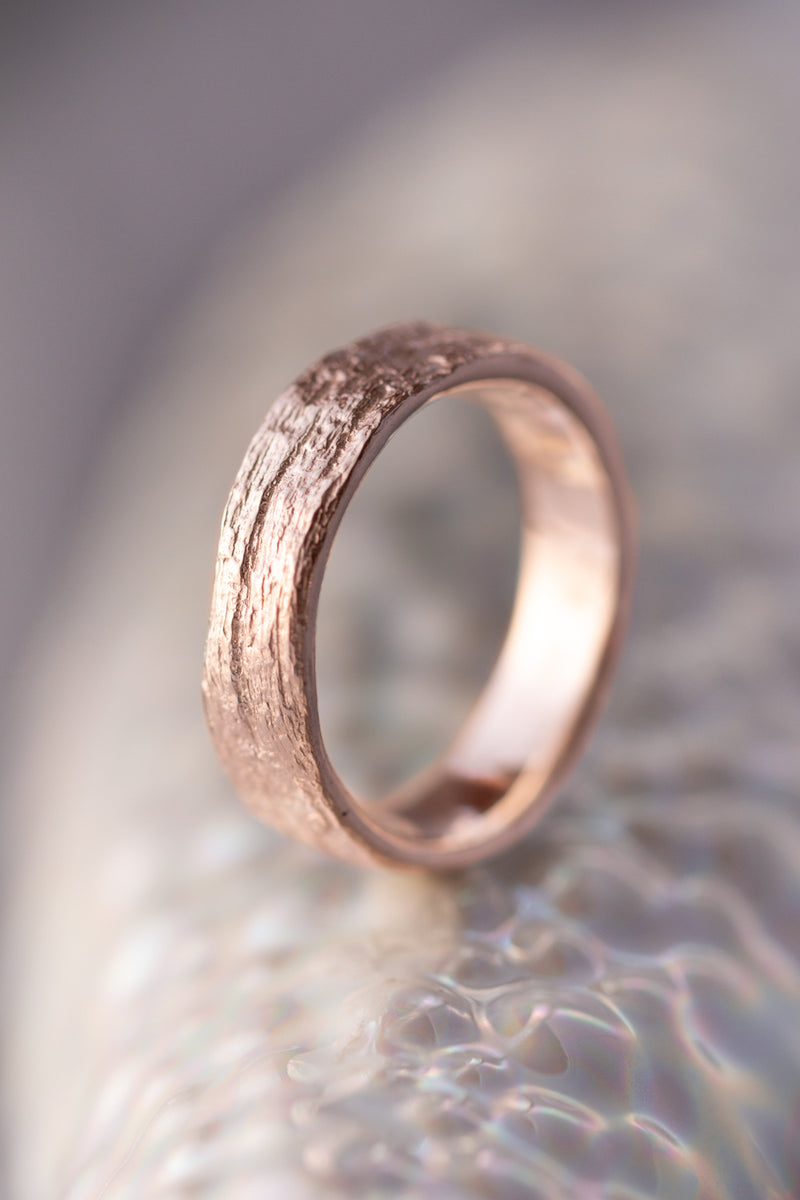 Bermuda Textures ~ Palm Tree Trunk Gold Ring