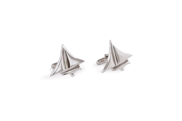 Nautical ~ Dinghy Cufflinks - Alexandra Mosher Studio Jewellery Bermuda Fine