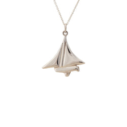 Nautical ~ Dinghy Pendant - Alexandra Mosher Studio Jewellery Bermuda Fine