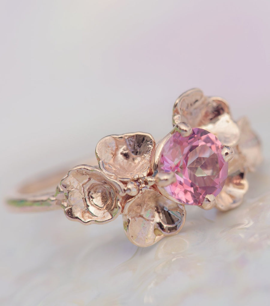 Under the Sea Barnacle Gem Ring 14K Rose Gold