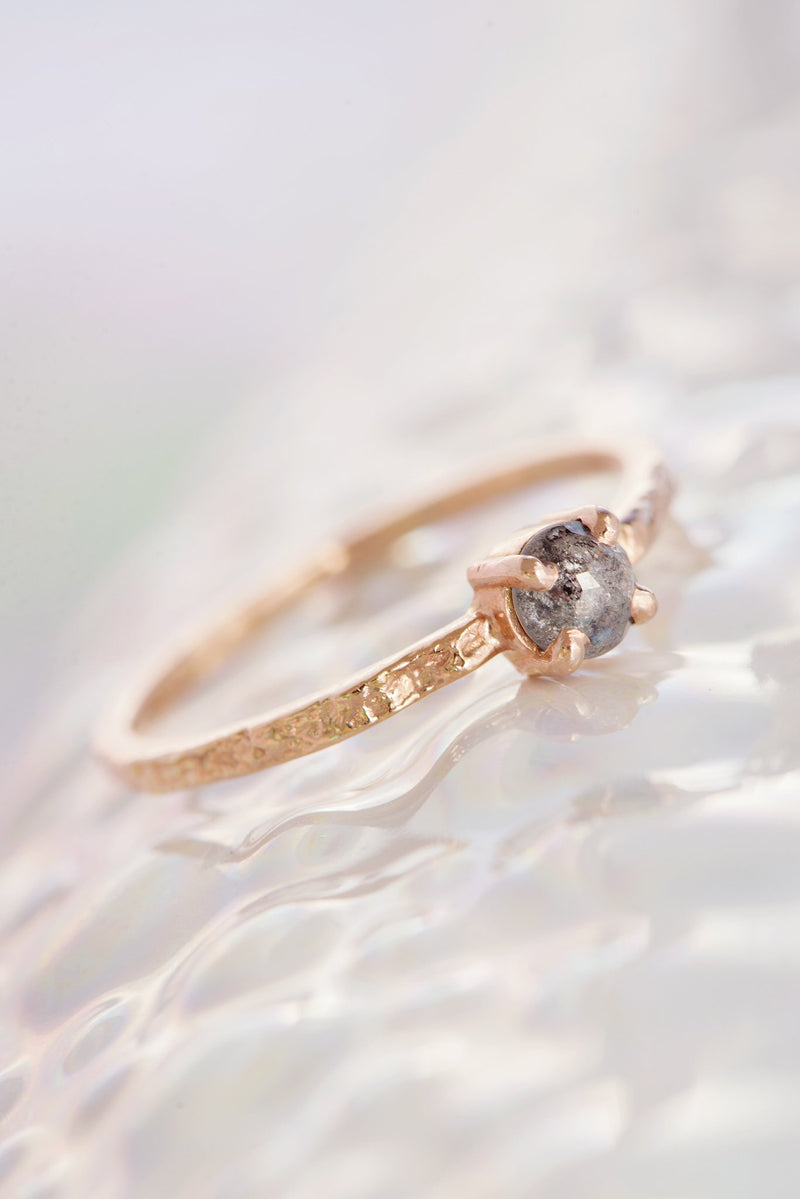 One of a Kind ~ Bermuda Moss Textured Ring in Rose Gold - Alexandra Mosher Studio Jewellery Bermuda Fine