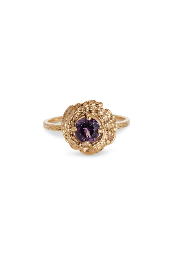 Bubble Shell Ring 14K Yellow Gold