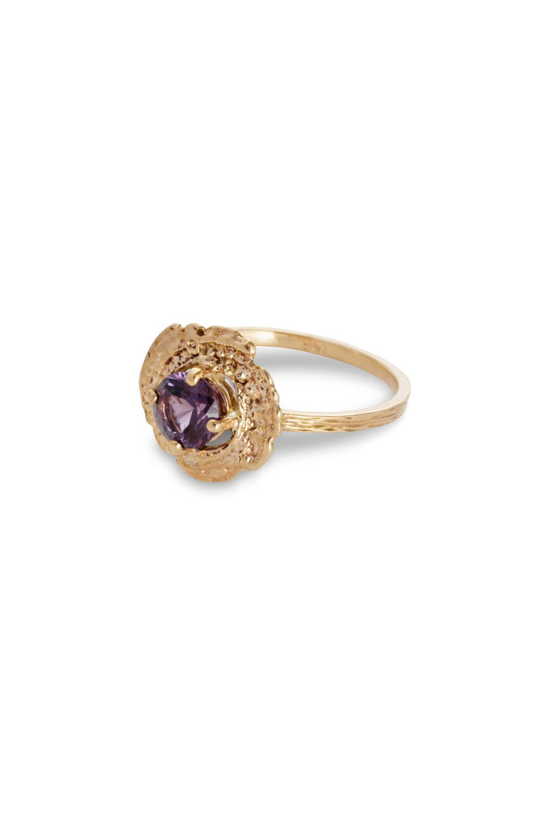 Bubble Shell Ring 14K Yellow Gold - Alexandra Mosher Studio Jewellery Bermuda Fine