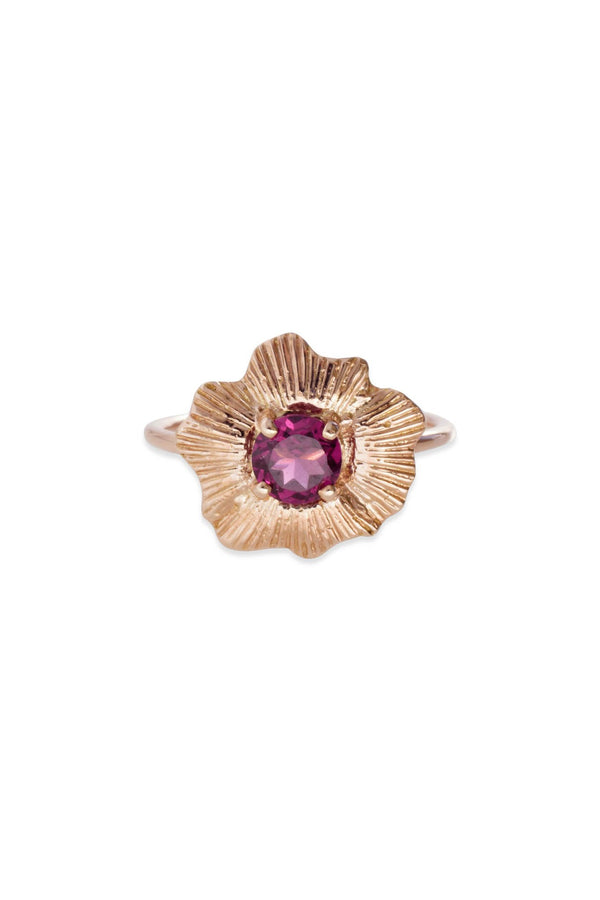 Round Starburst Shell Ring 14K Rose Gold - Alexandra Mosher Studio Jewellery Bermuda Fine