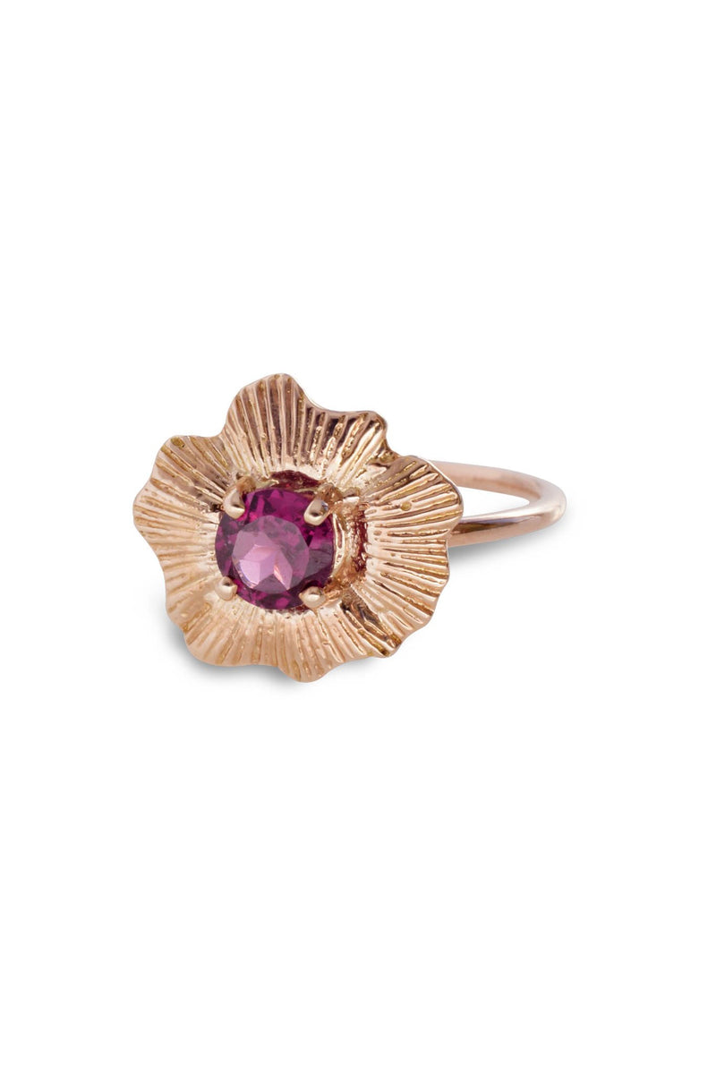 One of a Kind ~ Round Starburst Shell Ring in Rose Gold - Alexandra Mosher Studio Jewellery Bermuda Fine