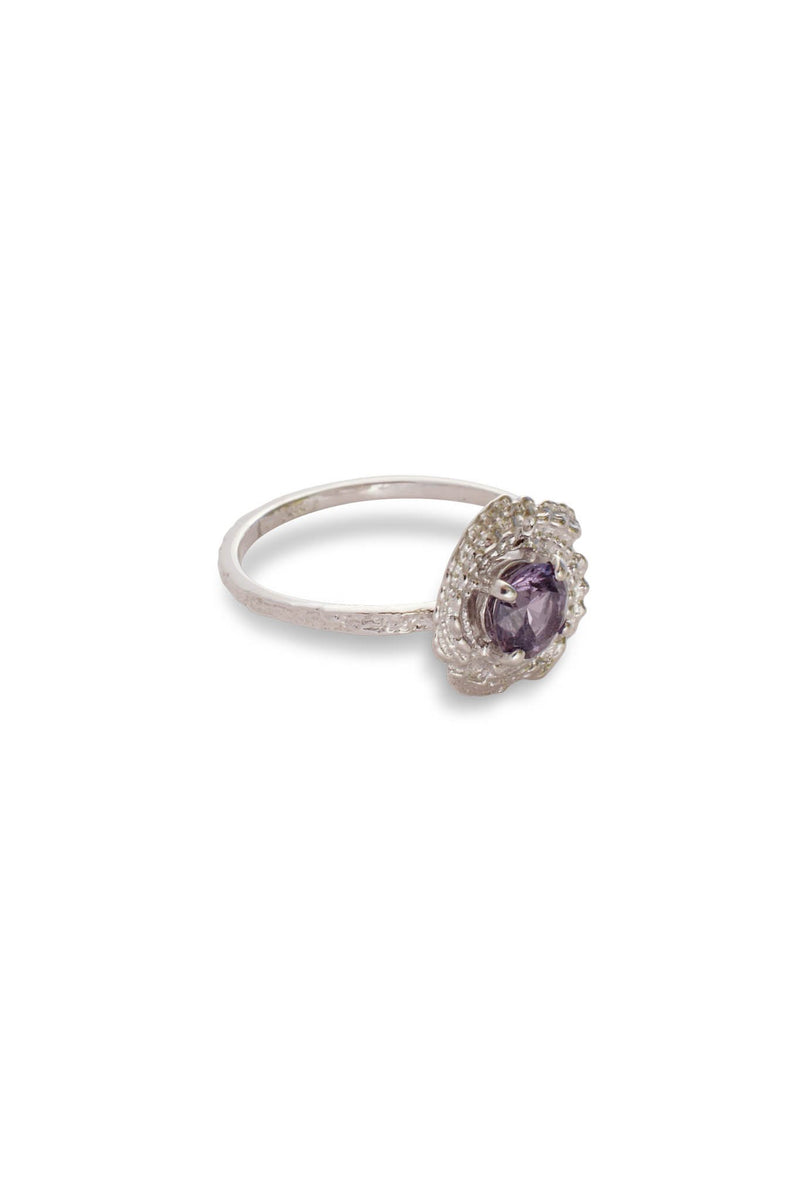 One of a Kind ~ Bubble Shell Ring in White Gold - Alexandra Mosher Studio Jewellery Bermuda Fine