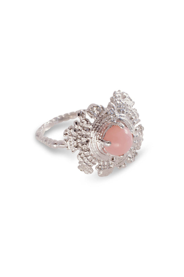 Large Bubble Shell 14K Ring
