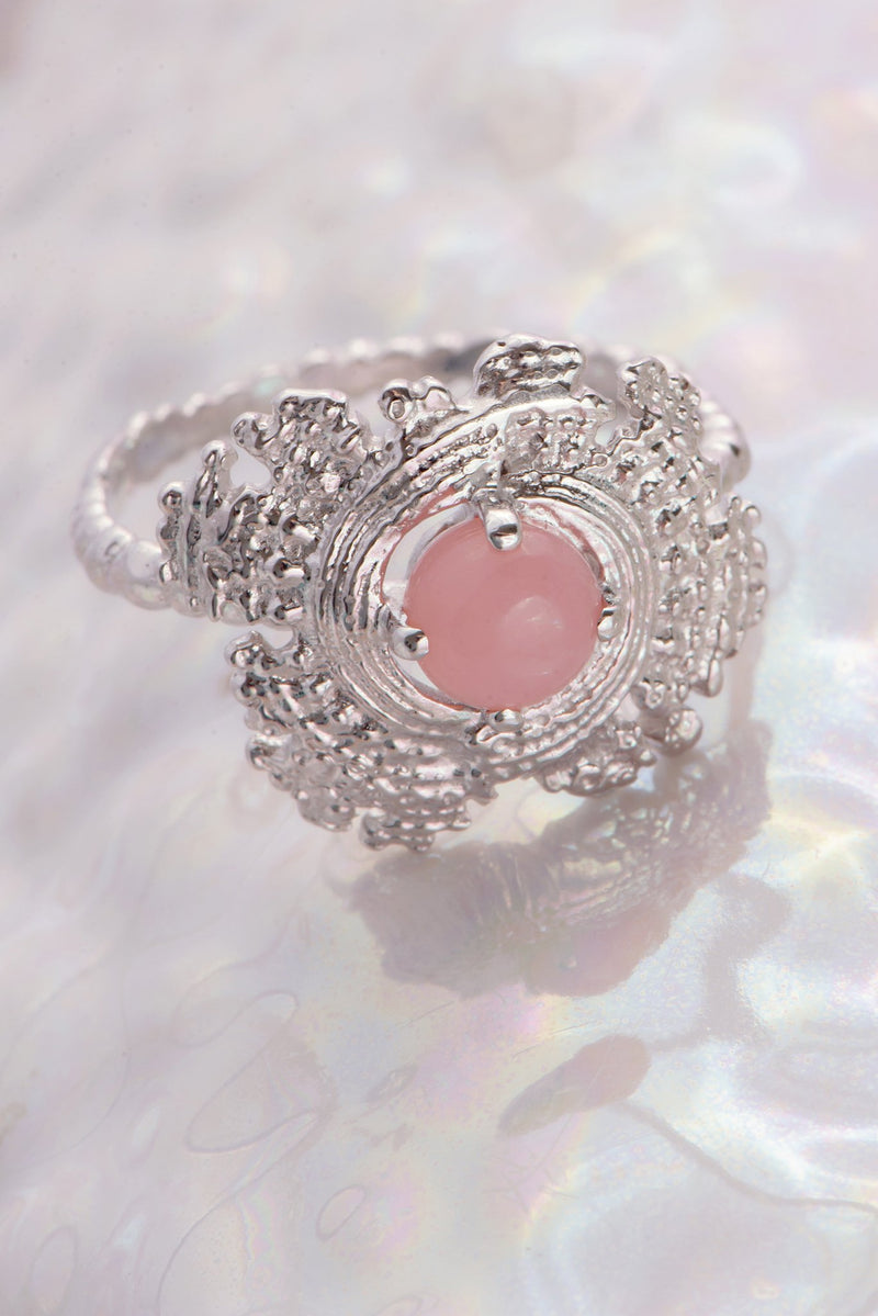 One of a Kind ~ Large Bubble Shell Ring in White Gold - Alexandra Mosher Studio Jewellery Bermuda Fine