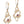 Under the Sea Small Link Gem Dangle Earrings 14K Yellow Gold