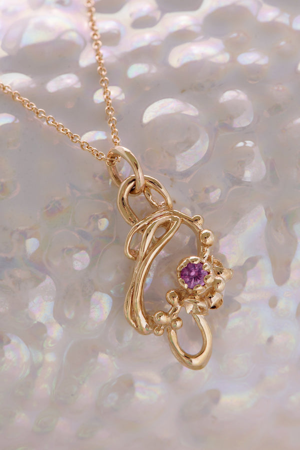 Under the Sea ~ Purple Sapphire Pendant