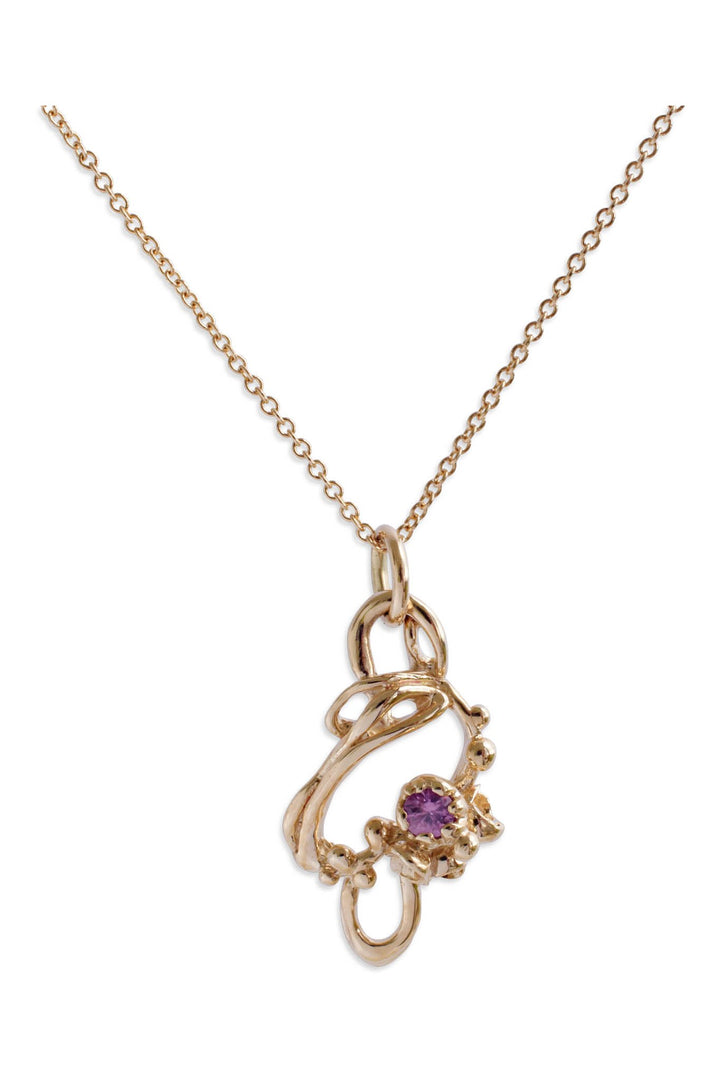 Under the Sea Purple Sapphire Pendant