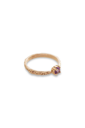 Bermuda Tapered Moss Textured Ring 14K Rose Gold