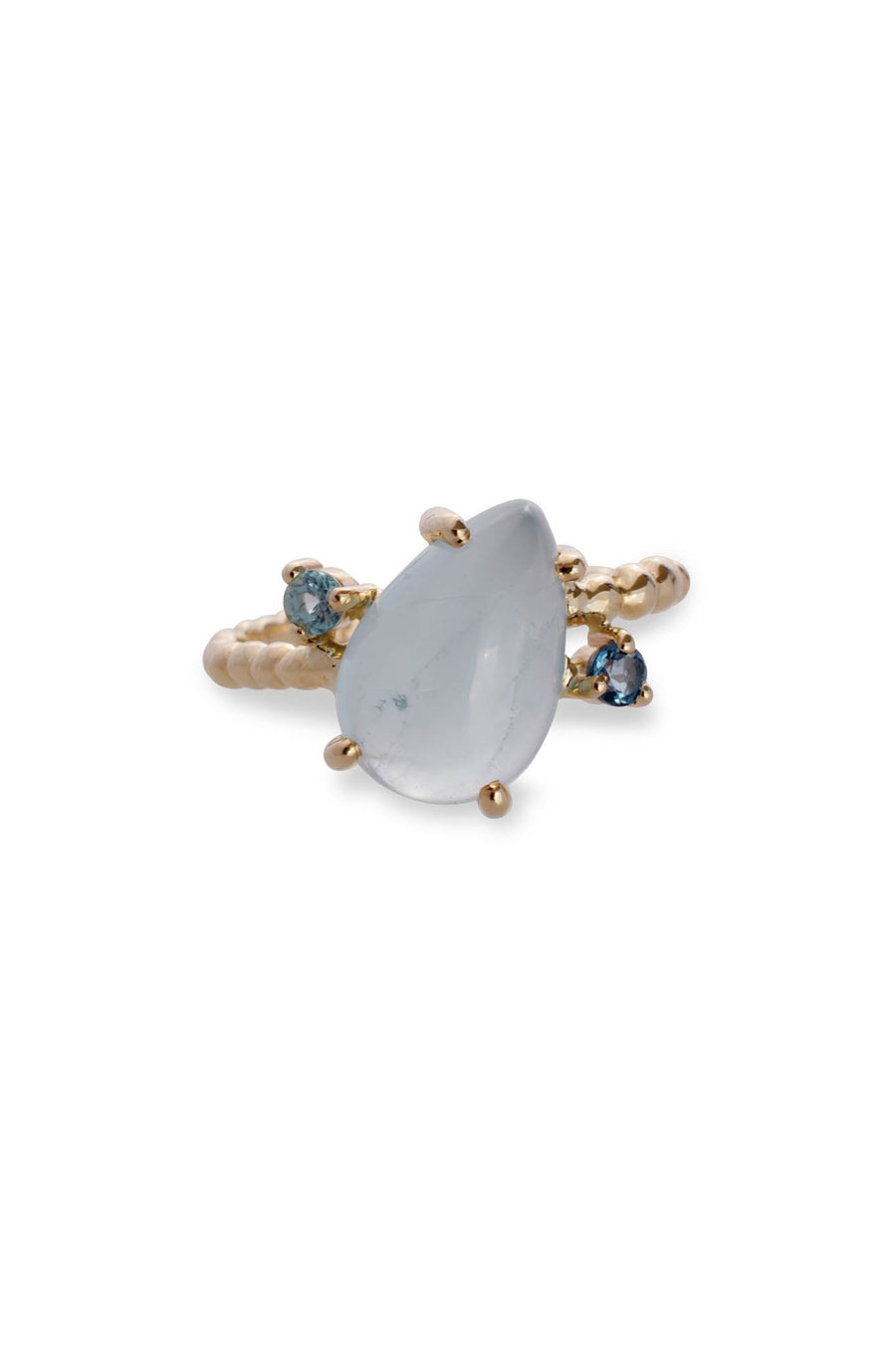 Caviar Pear Ring