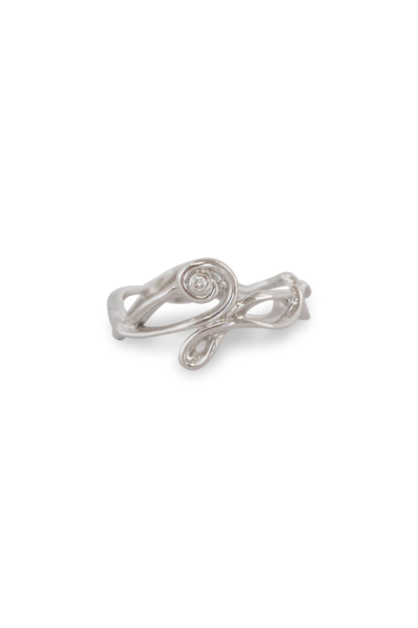 Melt Twirl Gem Ring 14K