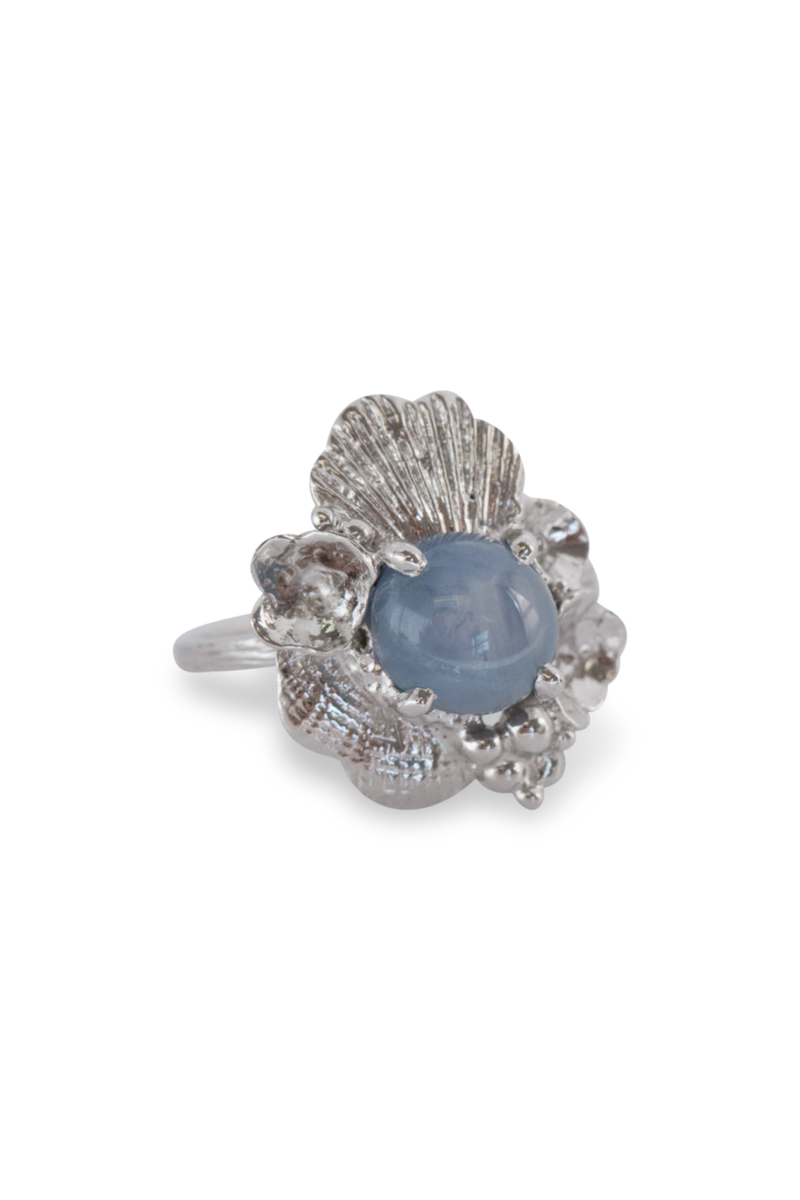 One of a Kind ~ Barnacle Tide Pool Ring in White Gold - Alexandra Mosher Studio Jewellery Bermuda Fine