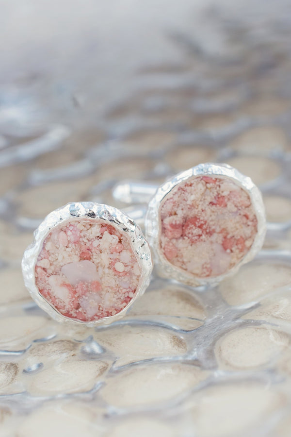 Reef ~ Medium Boiler Cufflinks - Alexandra Mosher Studio Jewellery Bermuda Fine