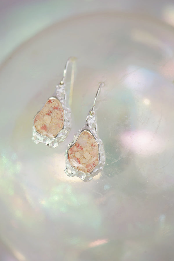 Reef ~ Teardrop Dangle Earrings - Alexandra Mosher Studio Jewellery Bermuda Fine