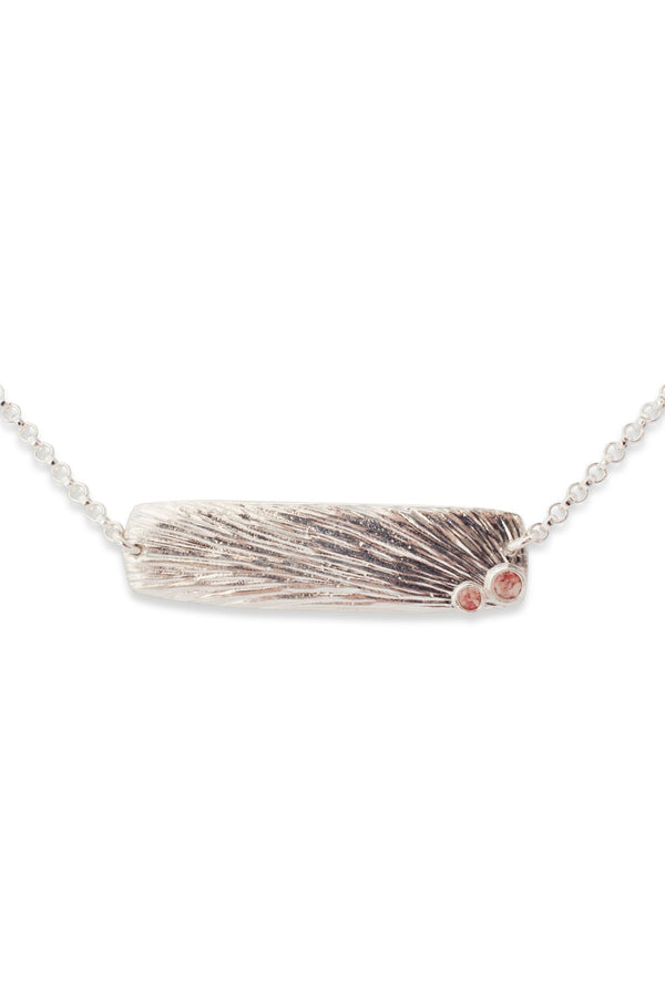 Sun Flare ~ Rectangle (Medium) Inline Necklace - Alexandra Mosher Studio Jewellery Bermuda Fine