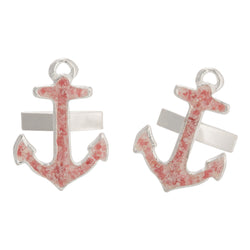 Men's Nautical ~ Anchor (Large) Cufflinks - Alexandra Mosher Studio Jewellery Bermuda Fine
