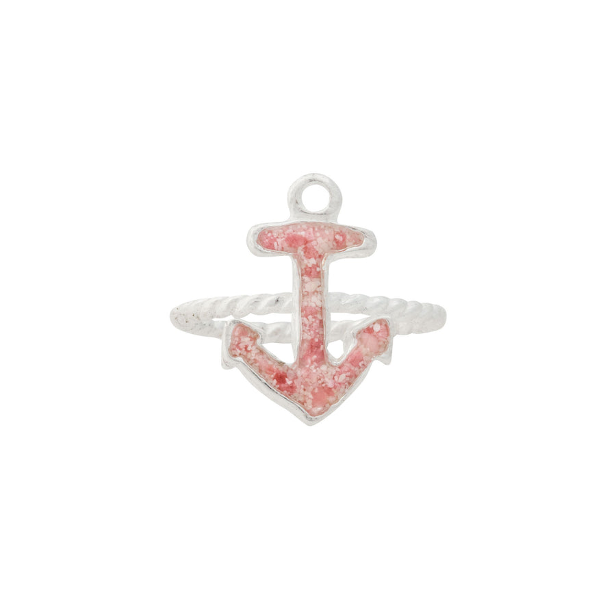 Splash Collection | Small Anchor Braided Band Ring