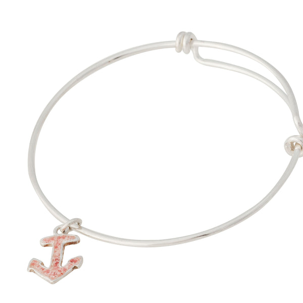 Nautical ~ Anchor (Small) Bangle - Alexandra Mosher Studio Jewellery Bermuda Fine