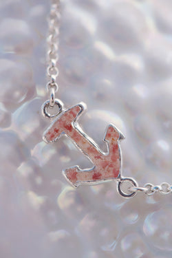 Nautical ~ Small Anchor Inline Anklet - Alexandra Mosher Studio Jewellery Bermuda Fine